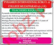 Pyramids International School & College Teachers Jobs