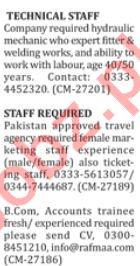 Drivers, Security Staff, Teachers & Marketing Staff Jobs
