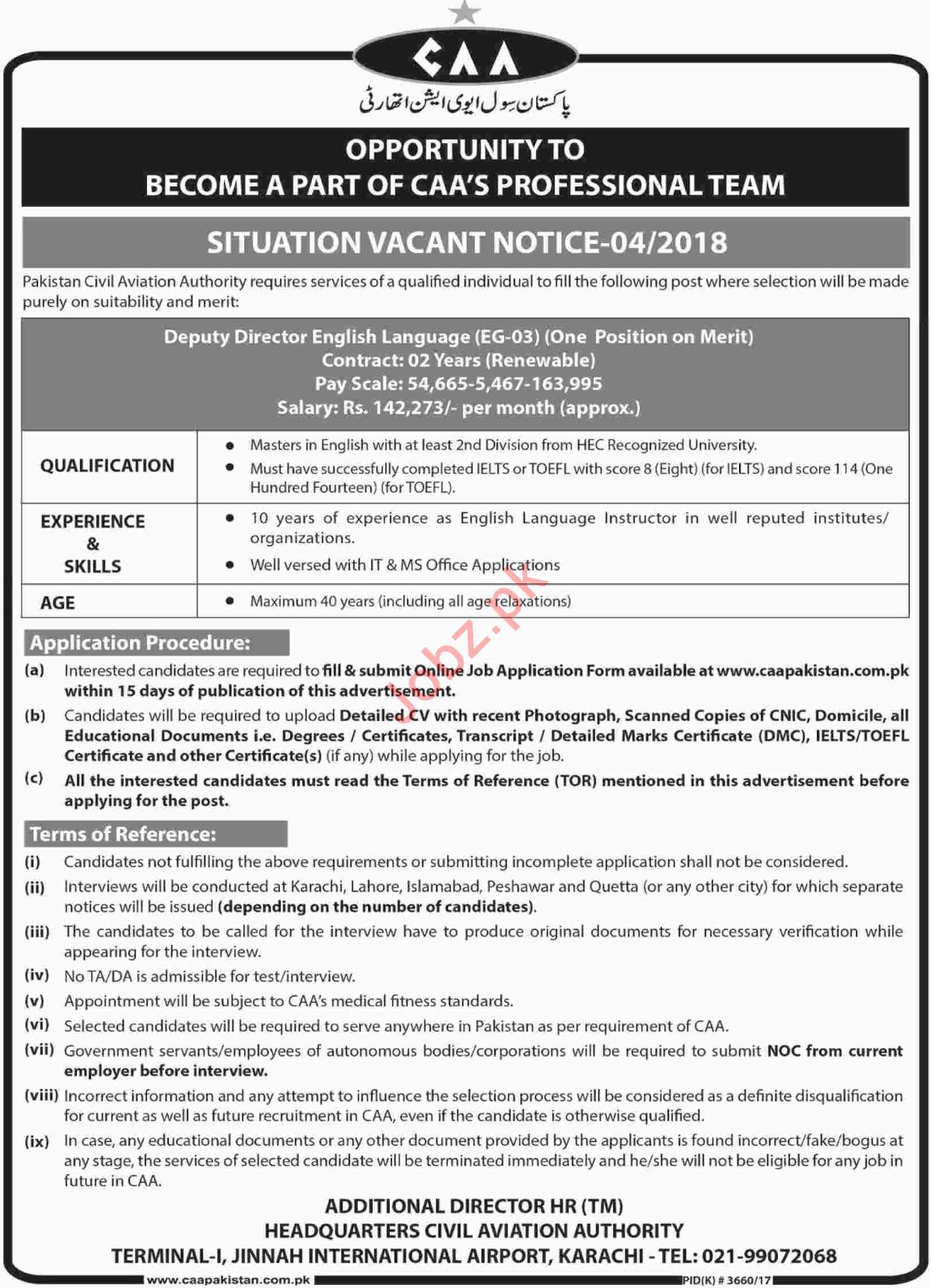 Civil Aviation Authority CAA Job Opportunities