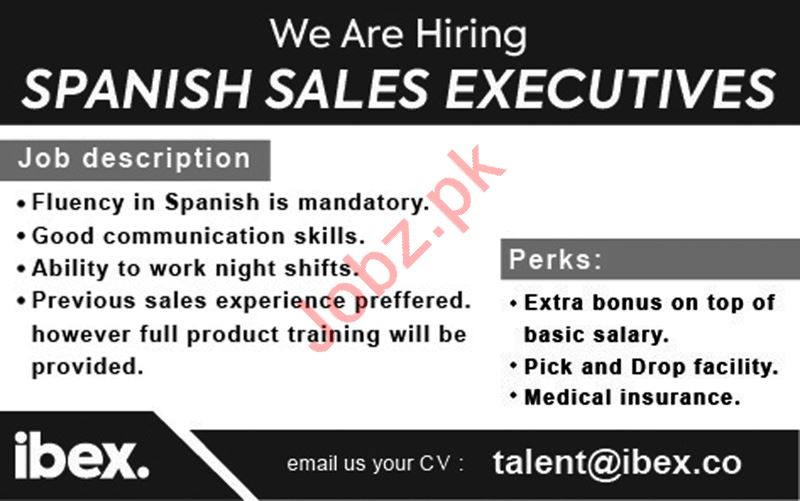Spanish Sales Executives Jobs 2018