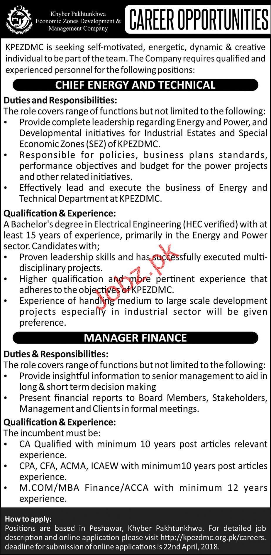 KPK Economic Zones Development and Company KPEZDMC Jobs