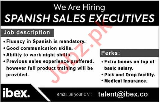 Spanish Sales Executives for Ibex