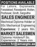 Sales Engineers and Market Salesmen Job Opportunity
