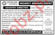 Helping Hands Foundation NGO Jobs 2018 for Country Director