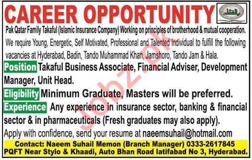 Islamic Insurance Company Jobs Associate, Adviser, Head