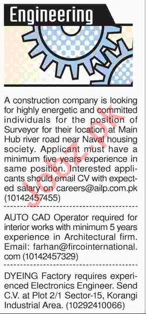Engineering Staff Jobs 2018 in Karachi