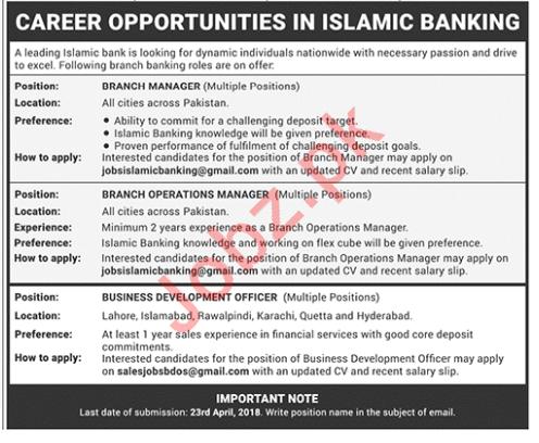 Business Development Officer & Branch Manager Jobs 2018