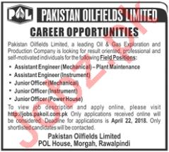 Pakistan Oilfields Limited POL - Technical Staff