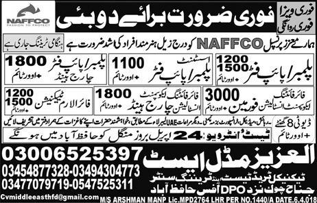 Fire Alaram Technicians, Plumbers, Pipe Fitters  Wanted