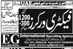 Factory Workers Job in Dubai Famous Company