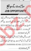 Male & Female Staff Jobs in Private Company at Karachi