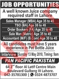 Sales Manager, Accountant, Salesman & Order Booker Jobs
