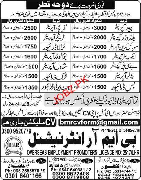 Pavor Operators, Grader Operators  Job Opportunity