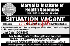 Margalla Institute of Health Sciences Jobs