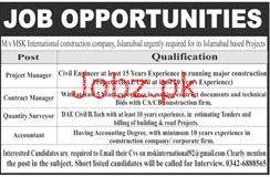MSK International Constructon Company  Jobs