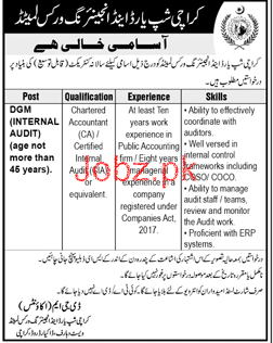 Karachi Shipyard and Engineering Works Limited Jobs Open