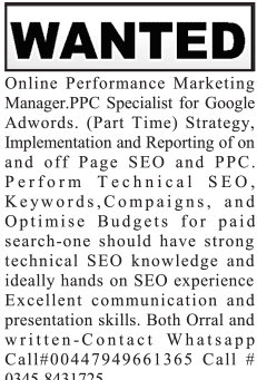 Marketing Manger PCC Specialists Job Opportunity
