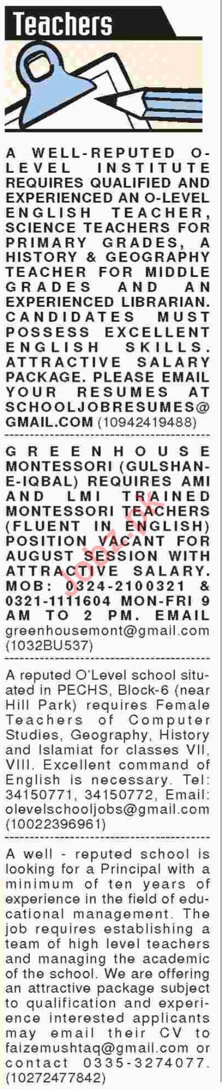 Teaching staff for Montessori School