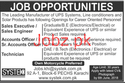 Systek Pvt Limited Sales Executives / Sales Engineers Jobs