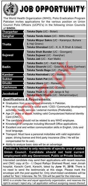 The World Health Organization WHO Jobs