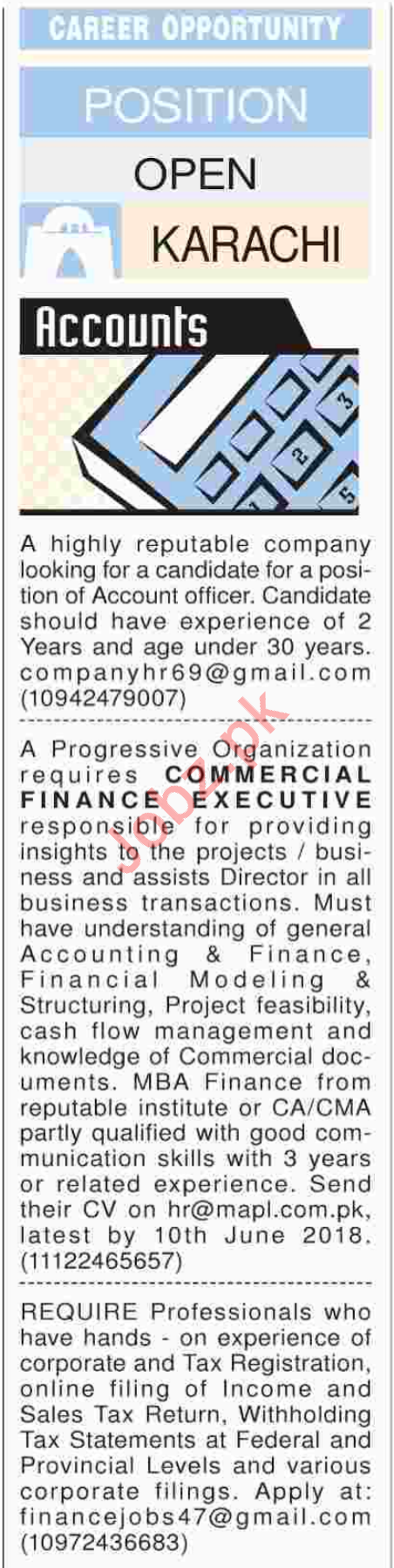 Accounts staff required
