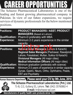 Schazoo Pharmaceutical Laboratories Pvt Ltd Jobs