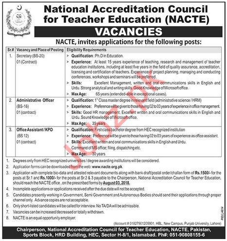 National Accreditation Council for Teacher Education Jobs