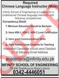 Infinity School Of Engineering Lahore Jobs 2018 Instructor