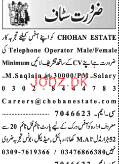 Male / Female Telephone Operators Job Opportunity