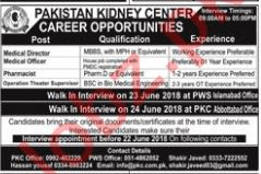 Pakistan Kidney Center Abbottabad Jobs 2018 for Doctors