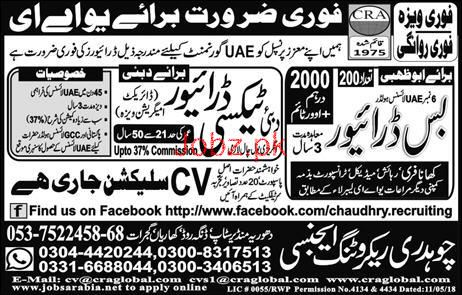 HTV Bus Drivers and LTV Taxi Drivers Job Opportunity