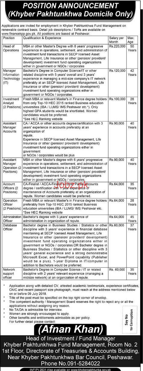 KPK Fund Management Manager Information Technology Jobs