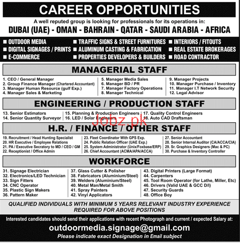 Chief Executive Officers, Manager HR Job Opportunity