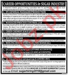 Career Opportunities in Sugar Industry