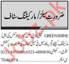 Marketing Staff for Greenshine