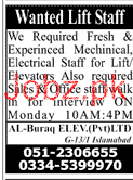 Fresh Electrical Staff and Mechanical Staff Job Opportunity