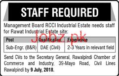Sub Engineers Job in RCCI Industrial Estate
