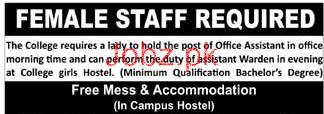 Office Assistants Job in College