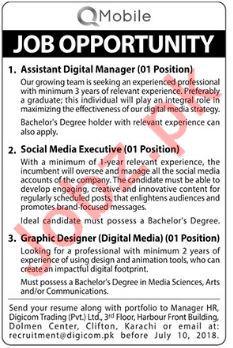 Social Media Executive & Graphic Designer Jobs 2018