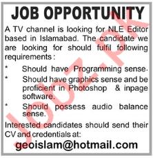 NLE Editor Jobs Career Opportunity