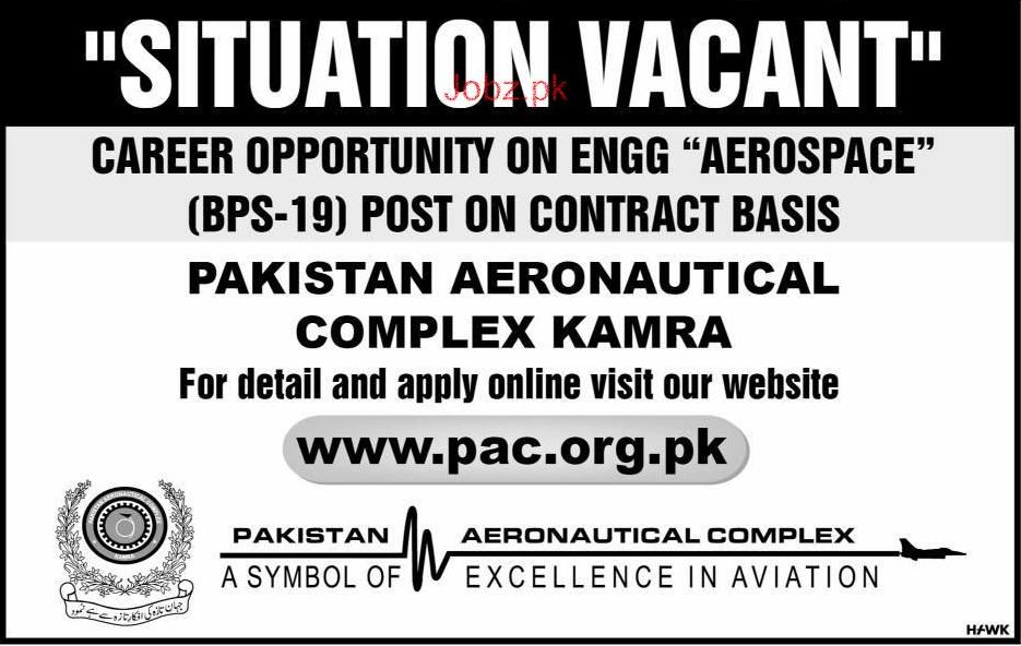 Pakistan Aeronautical Complex PAC Kamra Jobs