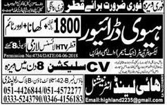 HTV Heavy Drivers Job in Qatar