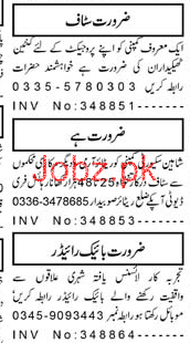 Security Guards, Staff Car Drivers Job Opportunity
