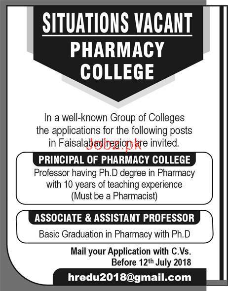Principal, Associate Professors Job Opportunity