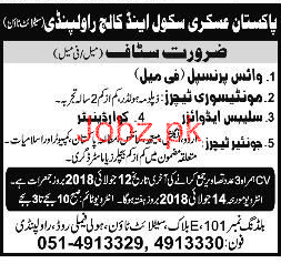 Pakistan Askari School & College Teachers Jobs