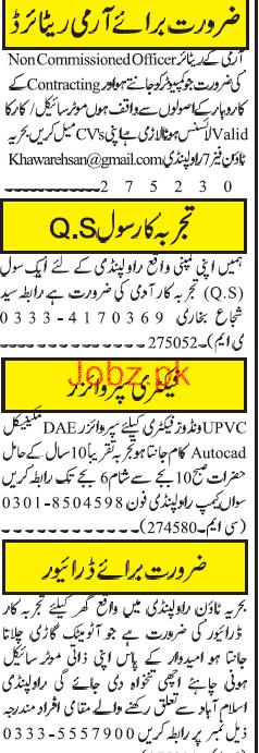 Factory Supervisors, LTV Drivers Job Opportunity