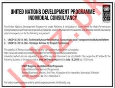 United Nation Development Programme UNDP Jobs 2018