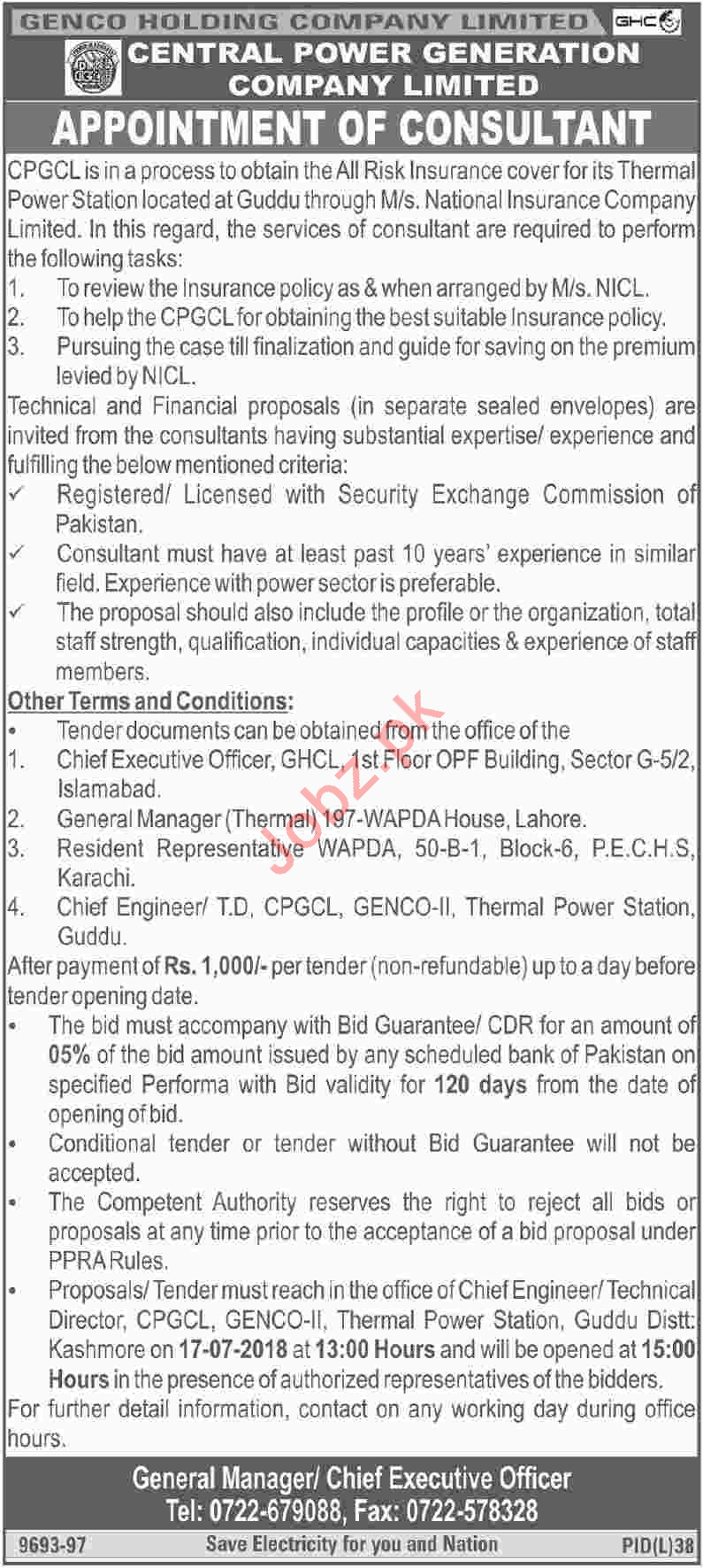 GENCO Holding Company Limited Jobs 2018 for Consultants
