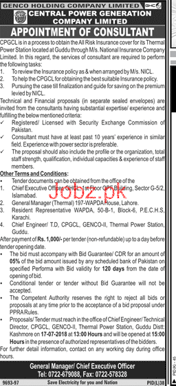 Central Power Generation Company Limited Jobs
