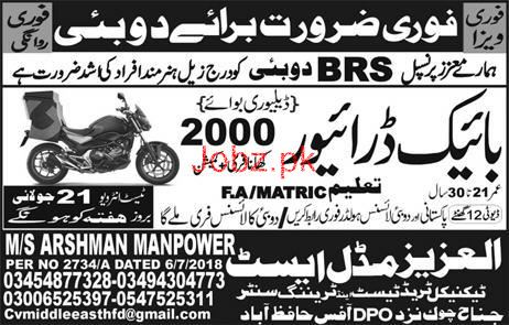 Bike Riders Job in BRS Famous Company